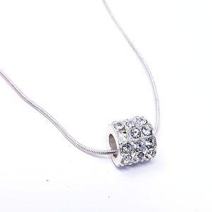 Premier Designs Silvertone Necklace Crystal Rhines